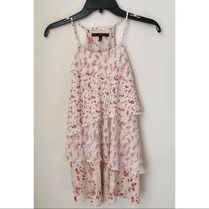 White House Black Market Tunic In Floral Pink